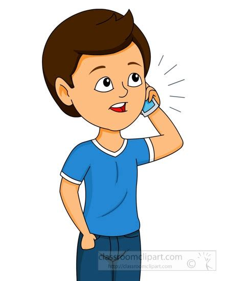 while on the phone kid talking on the phone clipart clipartsgram