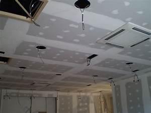Plaque Isolation Thermique Plafond : le plafond suspendu en plaques de pl tre faux plafonds ~ Edinachiropracticcenter.com Idées de Décoration