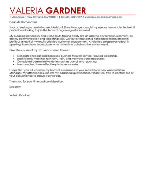 Sle Cover Letter Retail Assistant by Cover Letter Retail Assistant Template Sle Cover