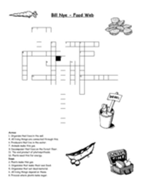 bill nye food web worksheet for 3rd 4th grade lesson