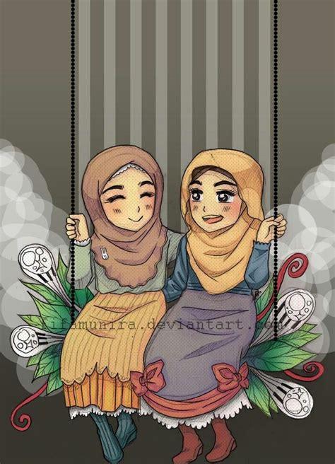 images  hijab cartoons  pinterest chibi