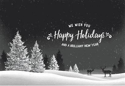 Holiday Card Animated Smaller Happy Holidays Flying