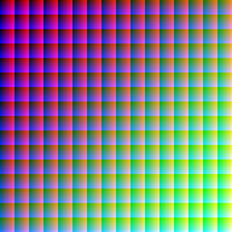 All One Color by All 16 777 216 Rgb Colors In One Picture With No Repeat