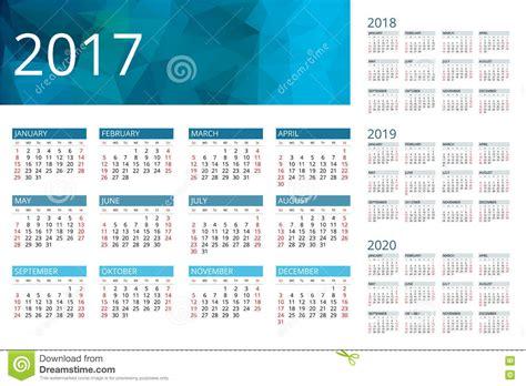 bureau stock calendrier pour 2017 2018 2019 2020 la semaine commence