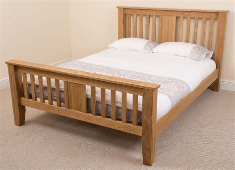 size wood bed boston solid oak 4ft 6 quot bed oak furniture king 15350