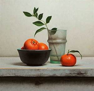 Still life with tangerines - Jos van Riswick Still life ...