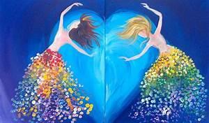 Magical Sisters Dancing LOVE acrylic EASY tutorial | Hart ...