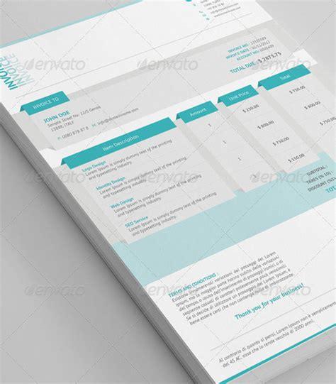 beautifully designed indesign invoice templates pixel