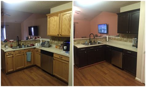 before and after pictures of kitchen cabinets painted painting laminate kitchen cabinets before and after 9889