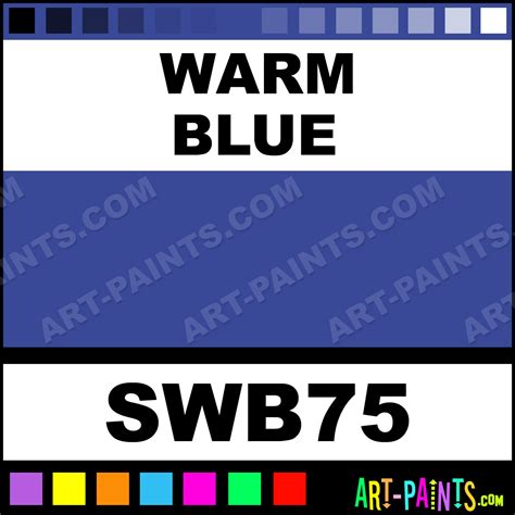 warm blue student acrylic paints swb75 warm blue paint