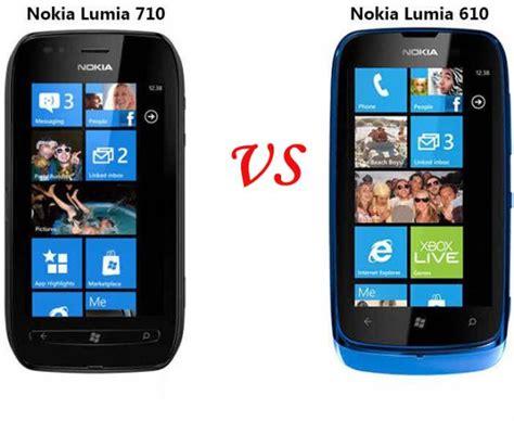 nokia lumia 610 vs nokia lumia 710 paperblog