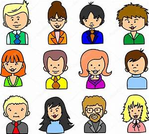 Rostros lindos dibujos animados Vector de stock #37455573 Depositphotos