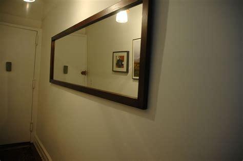 handmade long hallway mirror  wooden   nice
