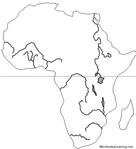 outline map african rivers enchantedlearningcom