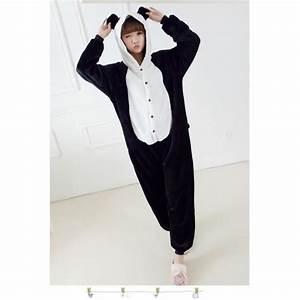 Combinaison Pyjama Homme Polaire : pyjama combinaison femme panda animation noir chaud d ~ Mglfilm.com Idées de Décoration