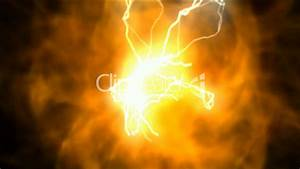 Fireball And Lightning Solar Cosmic Energy Universe