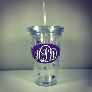 personalized 16oz decorative acrylic tumbler with vinyl With vinyl letters for tumblers