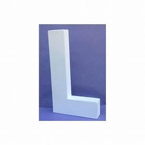 Lettre En Carton À Peindre : lettre 3d l en carton 20cm maison pratic boutique pour vos loisirs creatifs et votre deco ~ Nature-et-papiers.com Idées de Décoration