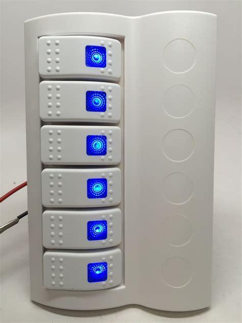 Boat Switch Panel 6 Gang by Marine Boat Waterproof White Switch Panel Circuit Breaker
