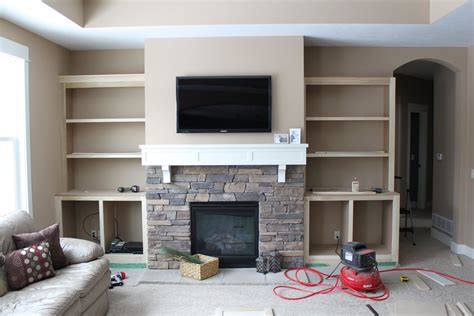 Built In Bookcase Around Fireplace by Hammers And High Heels Feature Project And Brian S