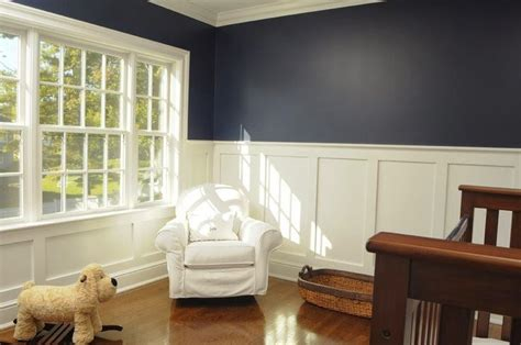 dark blue wall with wainscoting - Google Search