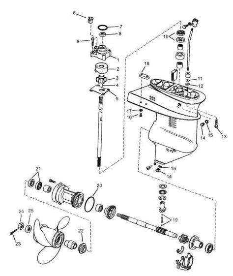15 HP Johnson Outboard Motor Parts Diagram