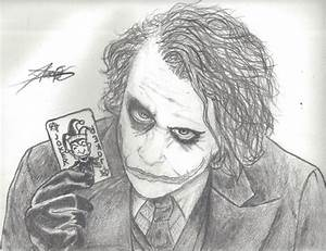 The Ledger's Joker (Drawing) by DemoskOmicron on DeviantArt