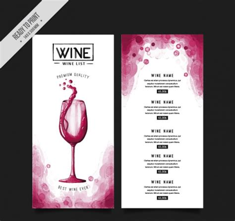 blank party menu templates ai psd docs pages
