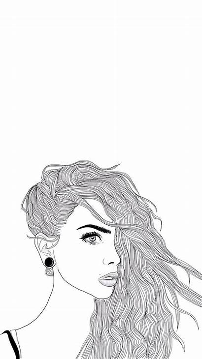 Sketch Drawing Iphone Drawings Outline Wallpapers Bizarre