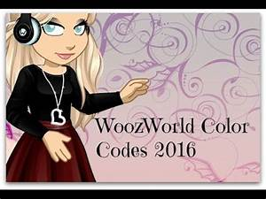 WoozWorld Best Color Codes 2013