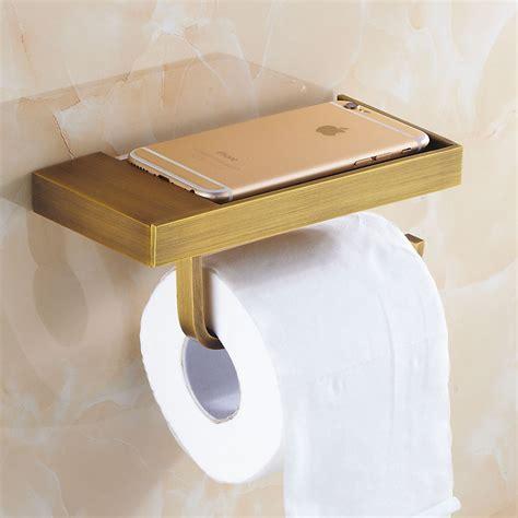 toilet paper holder shelf antique brass brushed toilet paper holder and hook roll