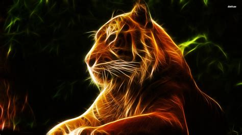 Glowing Animal Wallpaper - glowing abstract tiger wallpapers