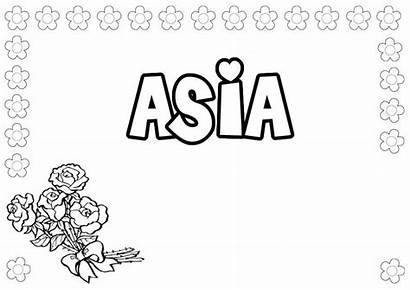 Coloring Pages Asia Names Coloring4free Getdrawings Ashley