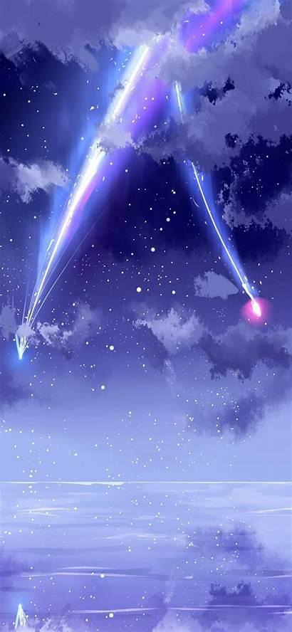 Wallpapers Phone Anime Sky Meteor