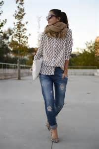 How to Style a Scarf with a Jean Shirt