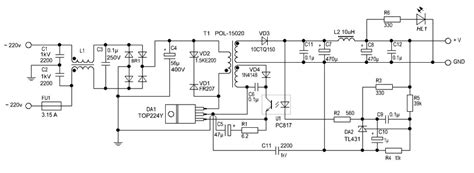 switching power supply 12 v 2 a circuit diagram world