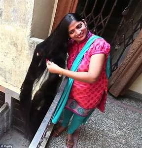 Indian woman with seven-foot-long hair hopes to becoming ...