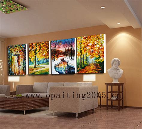 Hand Painted Picture On Canvas Modern Landscape Wall Art