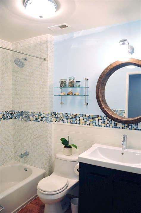 bathroom mosaic ideas modern bath design in kaleidoscope colorways winter blend