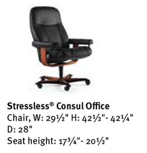 stressless consul office desk chair by ekornes seating