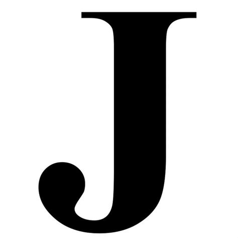 the letter j in black times new roman serif font typeface within the letter j gplusnick