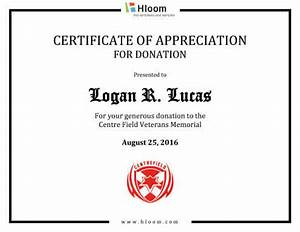 8 free printable certificates of appreciation templates With certificate of appreciation for donation template