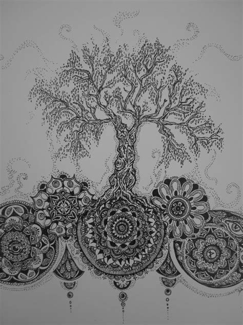 mandala tree tattoo mandala tattoo sketches