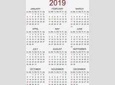2019 2018 Calendar Printable with holidays list Kalender