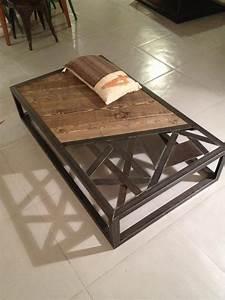 Table Salon Metal : tables basses mobilier industriel l 39 or du temps ~ Teatrodelosmanantiales.com Idées de Décoration