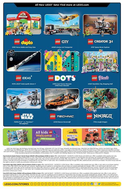 LEGO April 2021 Store Calendar Promotions & Events - The ...