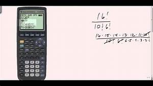 Using Your Calculator To Find Factorials Youtube