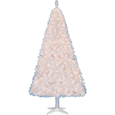 pre lit white christmas tree fishwolfeboro