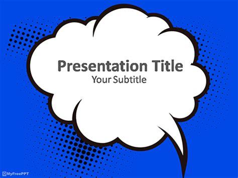 speech bubble powerpoint templates myfreepptcom