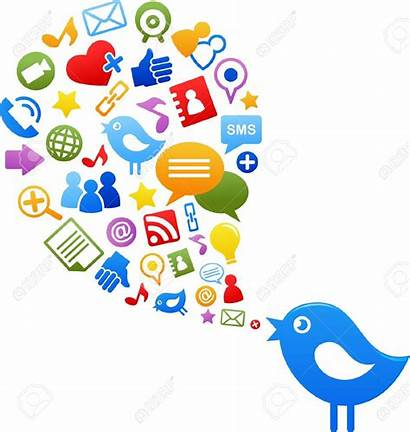 Social Clipart Icons Bird Networking Royalty Illustration